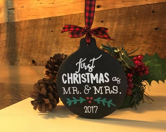 Chalkboard Christmas Ornament