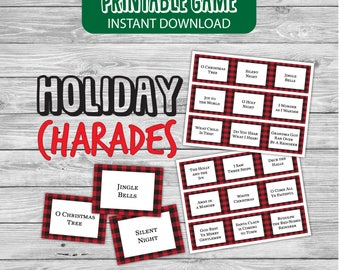 Christmas activity games christmas games christmas printable games activity charades Christmas Carol charades