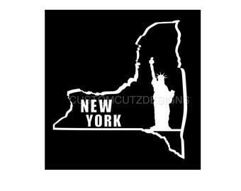 New York State Car Decal, New York State Vinyl Decal, New York, Laptop Decal, Car Decal, Tablet Decal, Window