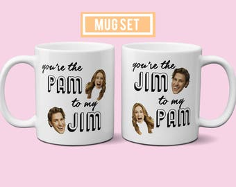You're the Jim to my Pam | The Office | Couples Coffee Mugs | Valentine's Day Mugs | Pam and Jim Mugs | The Office Mug - D174