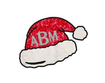 Santa Monogram Hat Applique Comes In 3 Sizes In 10 Formats