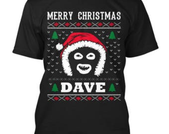 Merry Christmas Dave League Of Gentlemen Inspired Papa Lazarou Funny Novelty Ugly T Shirt
