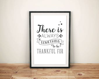 Gratitude Quote 3 Versions Poster, Printable Art, Gratitude, Inspirational, Wall Art, Digital Art