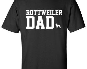 Rottweiler Dog Dad Logo Graphic T Shirt