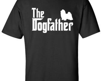 The Dogfather Shih Tzu Dog Logo Graphic TShirt