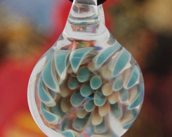 glass implosion pendant necklace