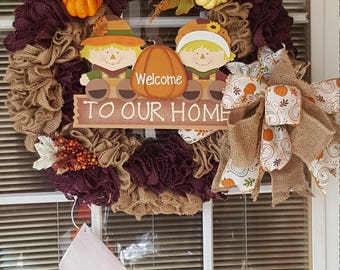 Welcome To Our Home Fall Wreath