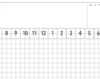 Daily Planning Sheet - Grid