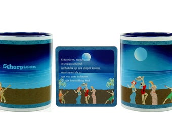 Birthday Gift-Scorpio-Coffee mug + coaster
