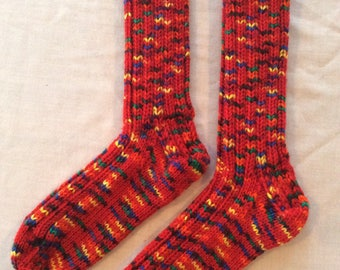 Teen's/women's hand knit socks