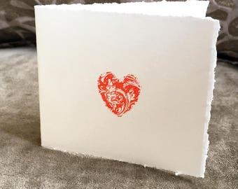 Anniversary or Engagement Card - Letterpress 'Token of Love'