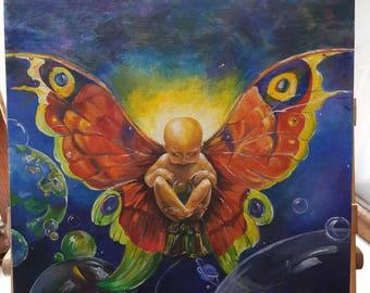 "Handiwork acrylic ""Child-butterfly"""