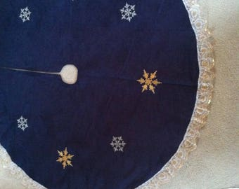 Navy suede tree skirt