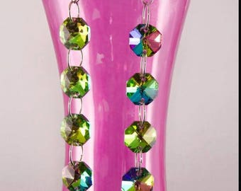 Faceted crystal dangle earrings