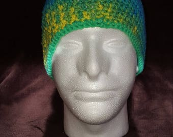 Crocheted Hat with Pompom