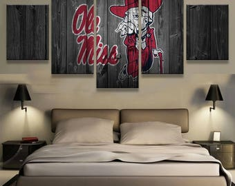 Ole Miss 5pc Wall Canvas
