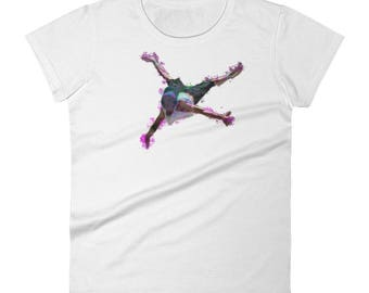 Watercolor Street Dancer Women's short sleeve t-shirtAll designs from Rowdy Grouse are original and home grown.