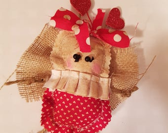 "Grungy Love Bug ""Love Bug Bridget "" - A Rag Doll made with love Valentine"