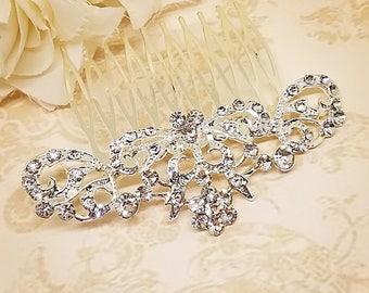 Rhinestone hair comb, bridesmaid hair comb, small hair comb, crystal hair comb, bridesmaid gift, wedding hair comb, wedding hair piece