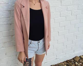 Vintage Blush Pink Blazer