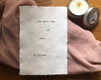 Love Box: The 1/2 - Life Romantic, Inspirational, Funny Greeting Card /Poem -Gifts for Bestfriend, Girlfriend, Boyfriend