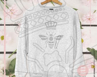 Plotter Bee Queen svg | dxf