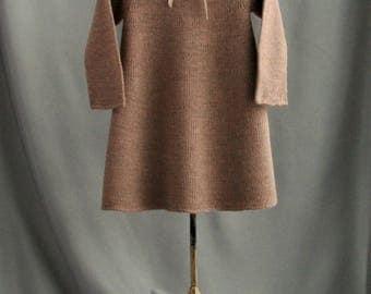 warm girl's dress| knitted dress| woolblend