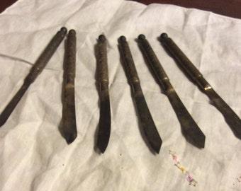 Ornate fruit knives