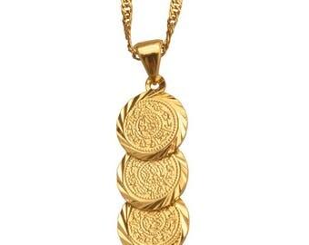 Saint pendants etsy coin 16k gold plated necklace gold filled necklace saint pendant gold filled choker aloadofball Choice Image