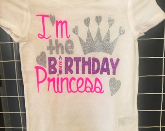 I'm the Birthday Princess girls birthday shirt