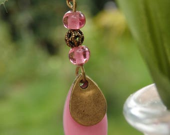 earring bronze and enamel sequin