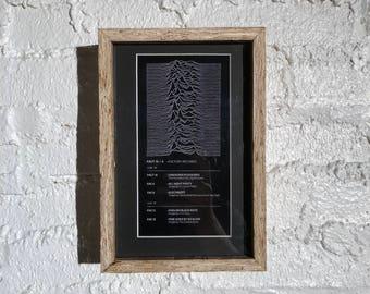 Joy Division Print Framed in Plywood Designed by Peter Saville