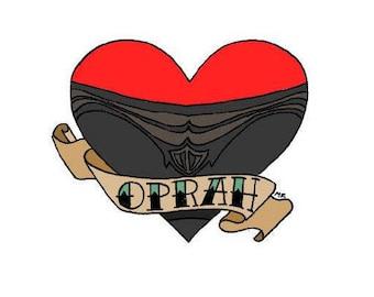 I Heart Oprah - 2018 Golden Globe Awards - Art Sticker