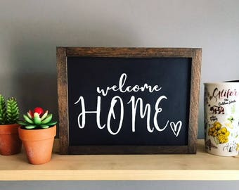 FARMHOUSE|RUSTIC| Welcome Home Wood Sign. Foyer. Entryway. Home Decor. Welcome home sign. Rustic Decor. Home.