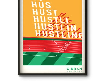 Hustlin Art Print