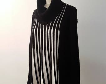 Vintage 80's/90's Turtle Necked Sweater with Flared hem