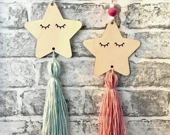 Hanging sleepy star | nursery decor | Kids room | Hanging Star |