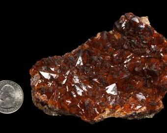 Hematite included Quartz crystals