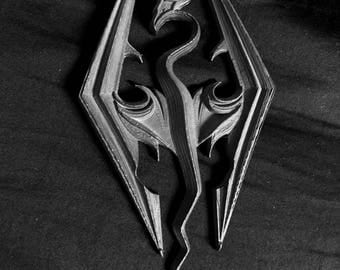 3d Printed Skyrim Emblem Decal