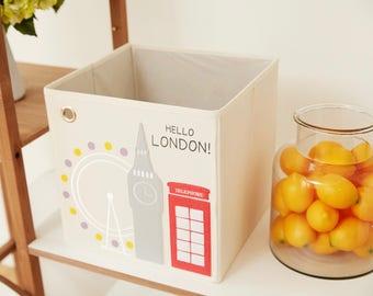 Hello London! Canvas Storage Box