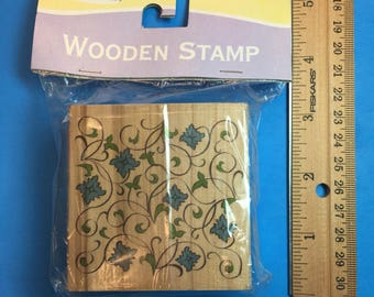Vines and Flowers Stamp