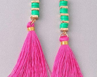 Stunning tassel drop earrings
