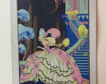 Vintage Playing Card Cinderella scene