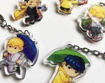 Mob Psycho 100 Clear Acrylic Charms
