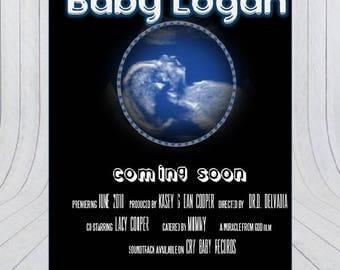 Movie Poster Invitation/ Custom Invitation/Baby shower Invitation