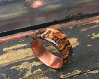 Wood band, wooden ring, men's wood wedding band, men's gifts, gift's for men, men's wedding band, natural ring, natural jewelry