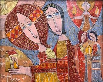 Fairy Tale: Original Acrylic Painting on Canvas, Wall Art, Canvas Art, Modern Painting