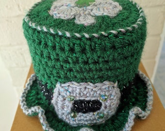 Irish Home Toilet Paper Tissue Roll Hat Cover Bathroom Decor St. Patrick's Day Shamrock C