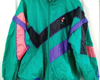 Satin jacket / sports jacket 90s Color