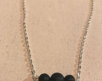 Lave Stone Diffuser Necklace